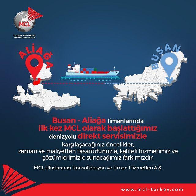 Busan - Aliağa limanlarında zaman ve maliyetten tasarrufunuzla, kaliteli hizmetimiz ve çözümlerimizle sunacağımız farkımızdır.